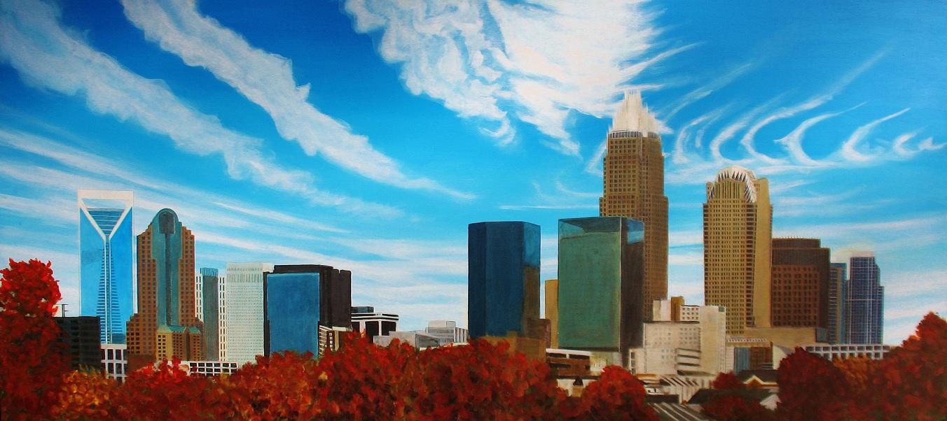 central Charlotte skyline